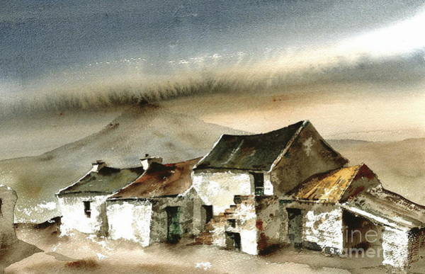 Painting - Donegal... Under Errigal by Val Byrne
