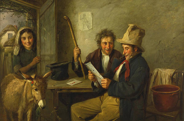Wall Art - Painting - Donkey And Dealer by Charles Hunt