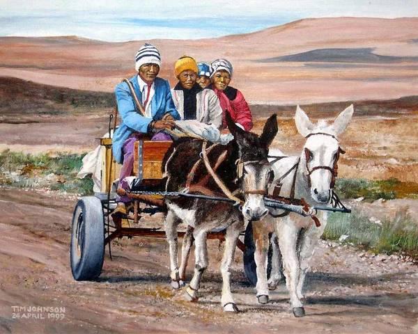 Donkey Cart Art Print