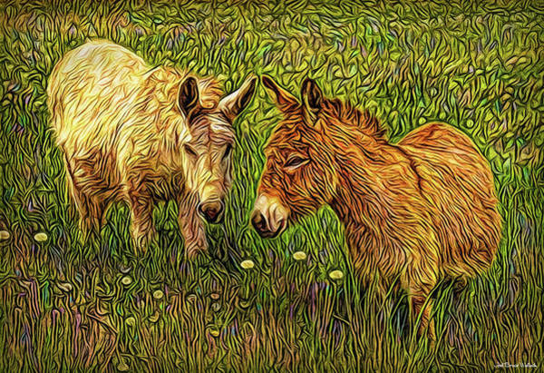 Digital Art - Donkey Confidential by Joel Bruce Wallach