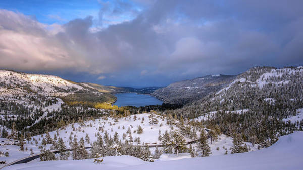 Donner Photograph - Donner Lake Lookout by Steve Spiliotopoulos