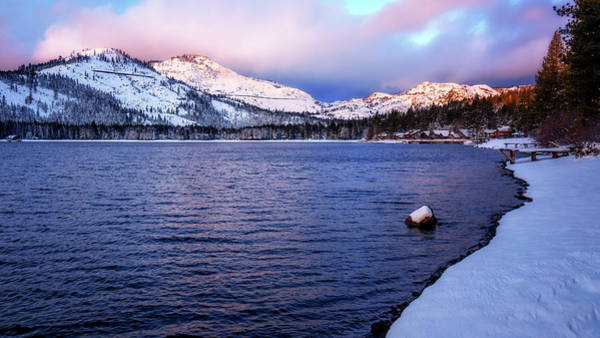 Donner Photograph - Donner Lake Morning by Steve Spiliotopoulos