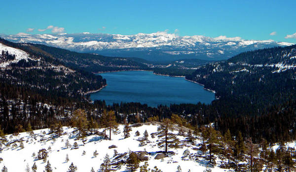 Photograph - Donner Lake Sierra Nevadas by Frank Wilson
