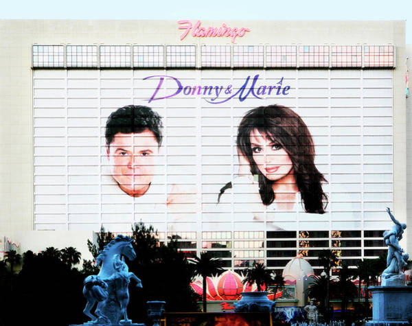Photograph - Donny And Marie Osmond Large Ad On Hotel by Marilyn Hunt
