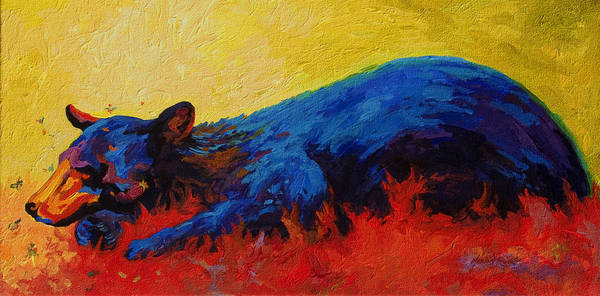 Wild Bear Painting - Dont Bug Me by Marion Rose