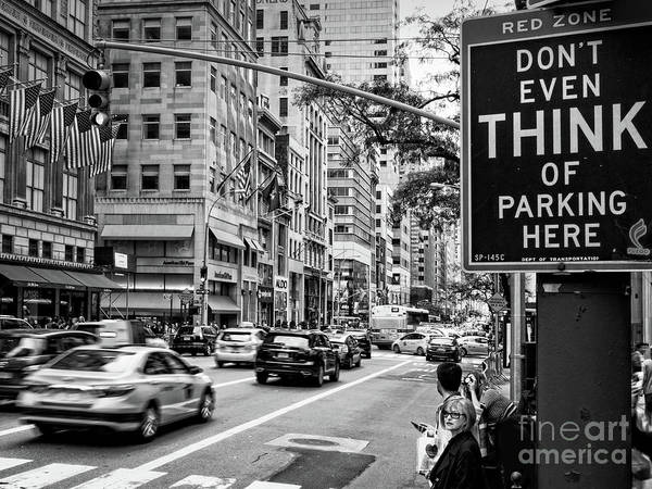 Photograph - Don't Even Think Of It, New York City  #80302-bw by John Bald