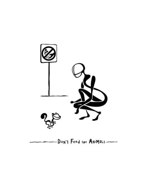 Digital Art - Don't Feed The Animals by Franklin Kielar
