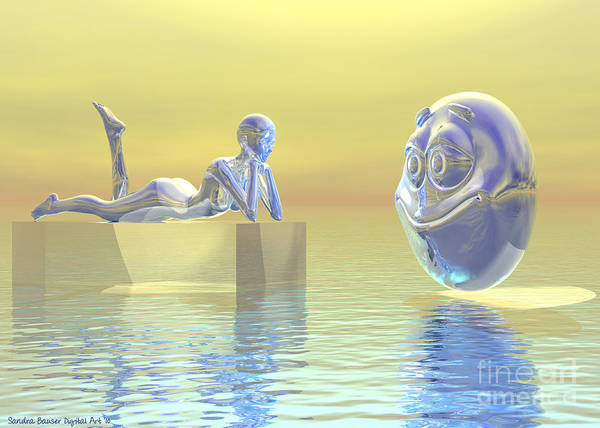 Digital Art - Don't Worry . . . Be Happy by Sandra Bauser Digital Art