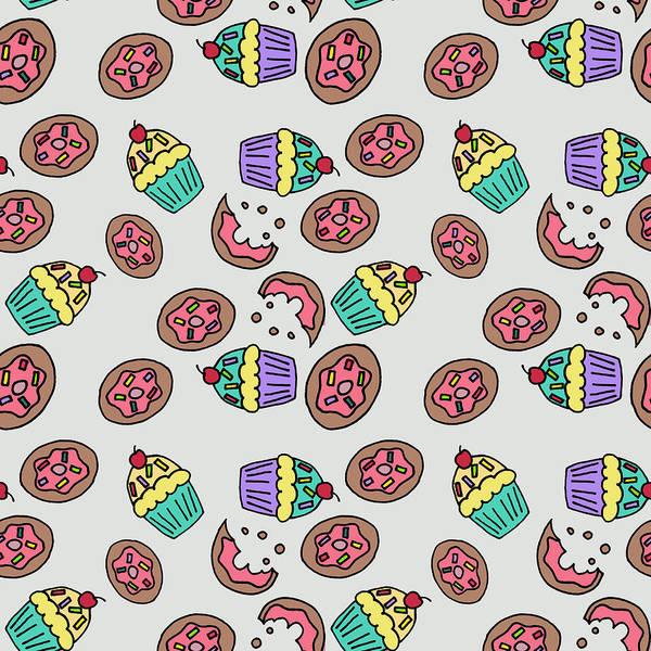 Wall Art - Digital Art - Donuts Cap Cake by Mark Ashkenazi