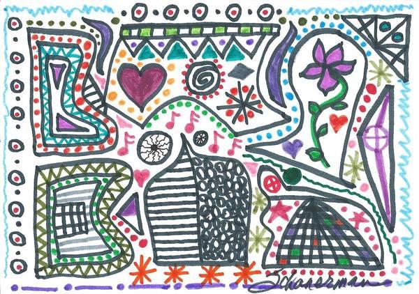 Drawing - Doodle-de-do by Susan Schanerman
