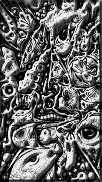 Doodle Emboss Art Print