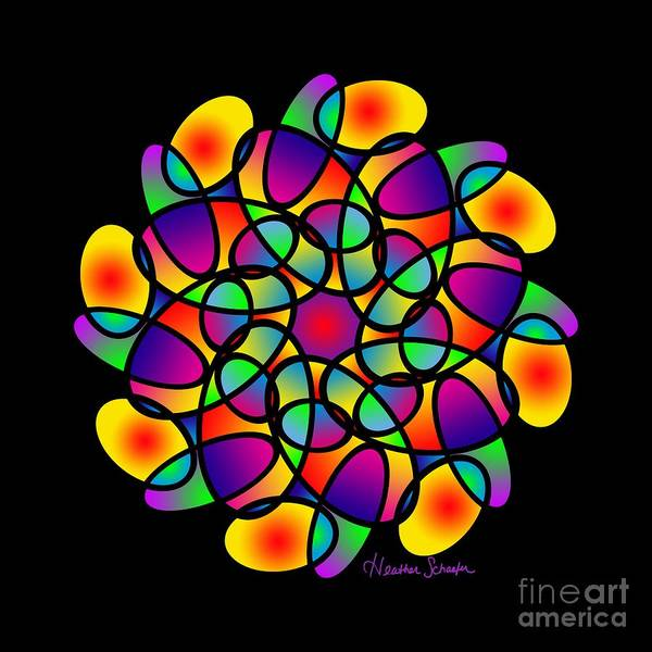 Digital Art - Doodle Mandala by Heather Schaefer