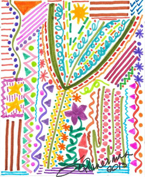 Drawing - Doodles Gone Wild by Susan Schanerman