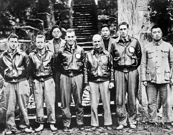 Pioneer Photograph - Doolittle's Raiders by American School