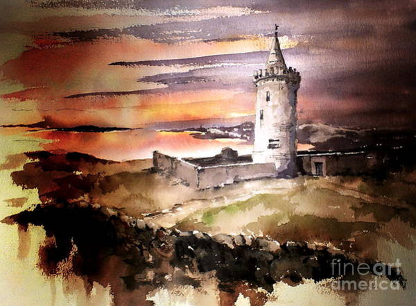 Painting - Doonagore Castle, Doolin by Val Byrne