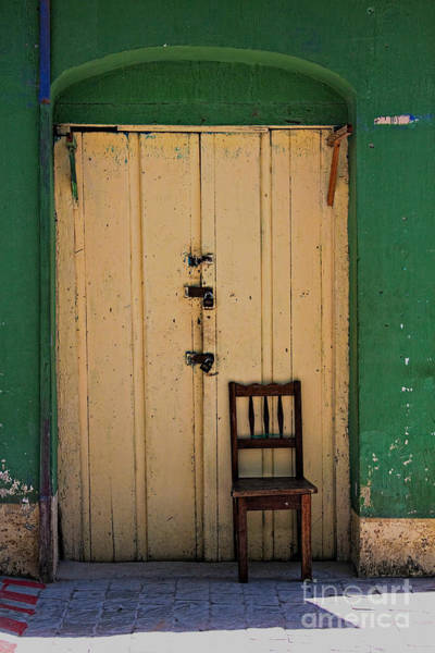 Photograph - Door And Chair by Tatiana Travelways