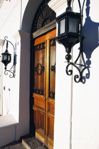 Photograph - Door And Lamps by Thomas R Fletcher