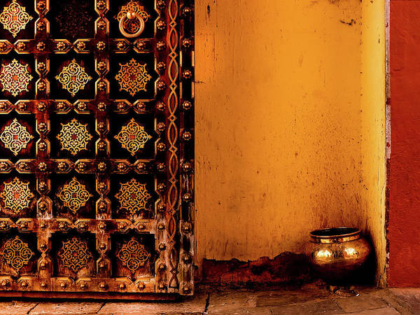 Photograph - Door And Pot by Miles Whittingham