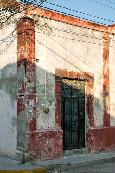 Campeche Photograph - Door And Shadows by Jurgen Lorenzen