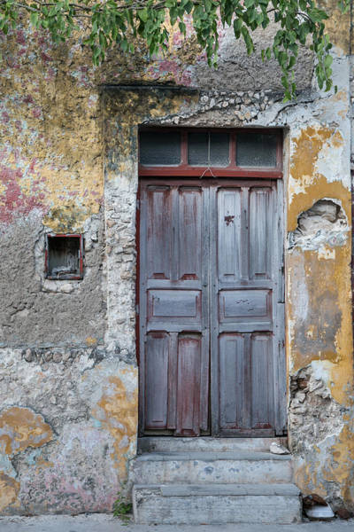 Campeche Photograph - Door And Steps by Jurgen Lorenzen