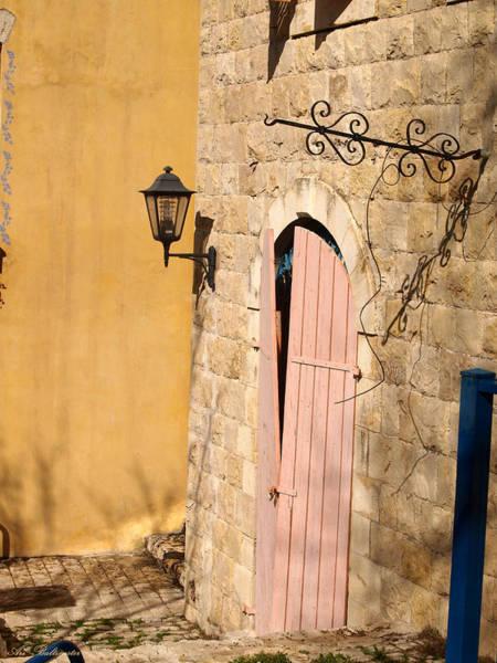 Door And Streetlight. Art Print