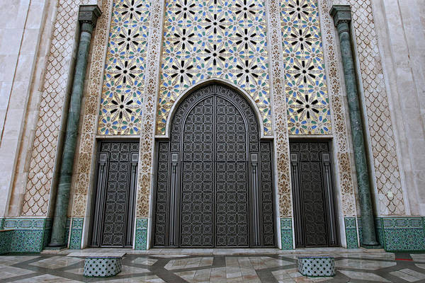 Photograph - Door And Wall Decoartions Of Hassan II Mosque by Aivar Mikko