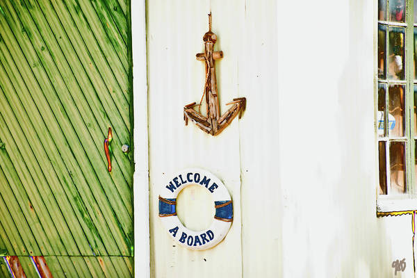 Photograph - Door And Welcome Aboard by Gina O'Brien