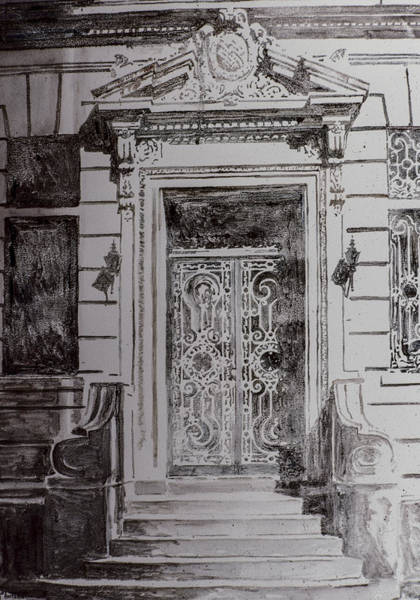 Entry Drawing - Door by Anthony Butera