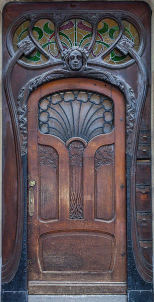 Maison Photograph - Door At Number 22 In Strasbourg by W Chris Fooshee