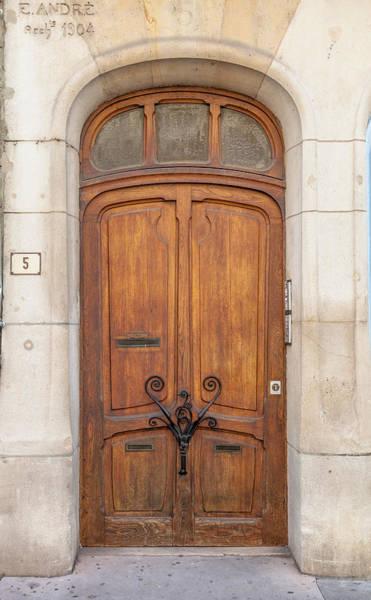 Nouveau Photograph - Door At Number 5 In Nancy by W Chris Fooshee