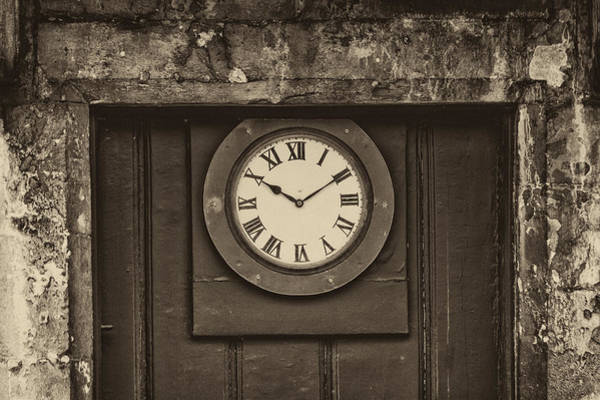 Photograph - Door Clock by Clare Bambers