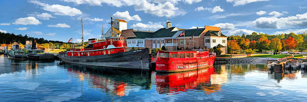 Painting - Door County Maritime Museum Panorama by Christopher Arndt