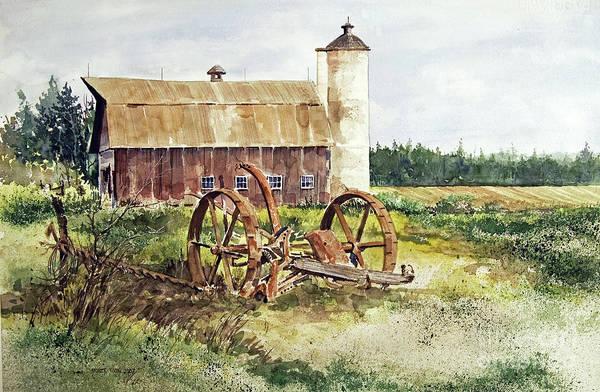 Painting - Door County by Monte Toon