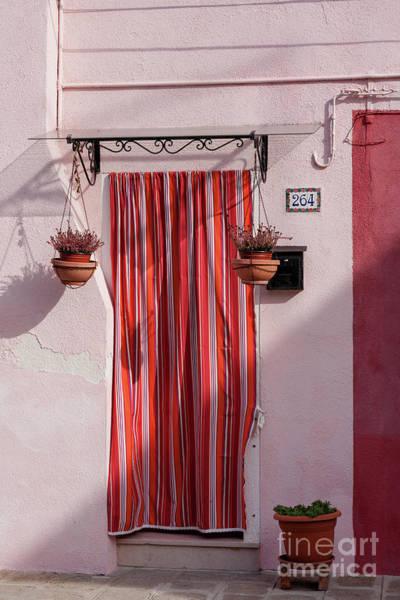 Photograph - Door Draperies In Burano  by Heiko Koehrer-Wagner
