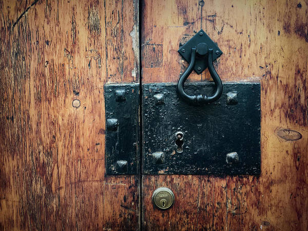 Photograph - Door Hardware In Angra Do Heroismo Portugal by Kelly Hazel