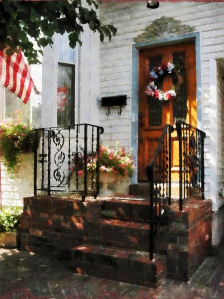 Photograph - Door In Dappled Sunshine by Susan Savad