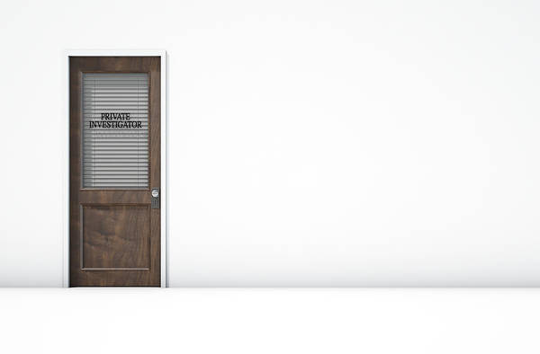Doorway Digital Art - Door In Private Eye Room by Allan Swart