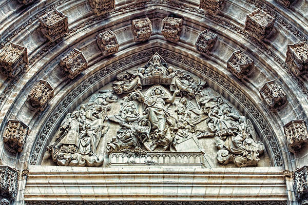 Photograph - Door Of Assumption - Detail, Seville Cathedral, Spain by Tatiana Travelways
