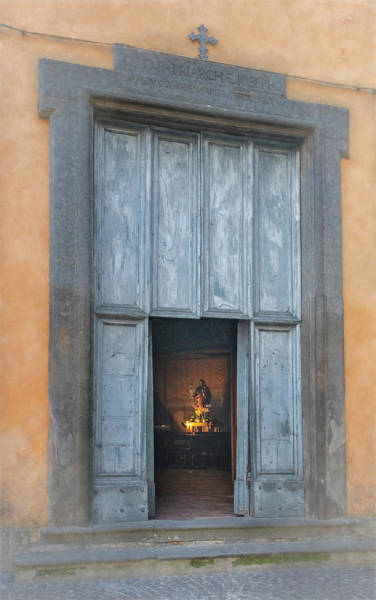 Photograph - Door Of Church Of San Giuseppe Orvieto Italy Artistic by Joan Carroll