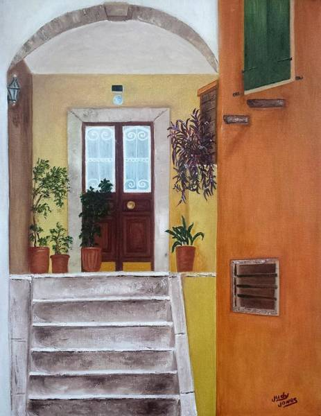 Wall Art - Painting - Door To Croatia by Judy Jones