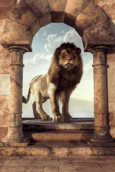 Digital Art - Door To The Lion's Kingdom by Daniel Eskridge