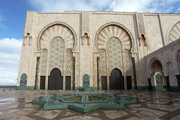 Photograph - Doors And Wall Decoartions Of Hassan II Mosque by Aivar Mikko