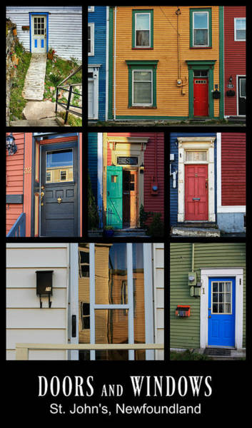 Photograph - Doors And Windows Newfoundland by Tatiana Travelways