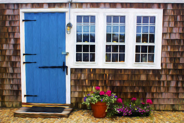 Blue Door - Doors And Windows Series 01 Art Print