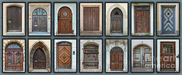 Photograph - Doors Doors Doors by Jutta Maria Pusl