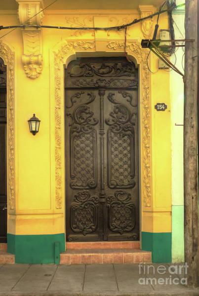 Photograph - Doors Of Cuba Yellow Door by Wayne Moran
