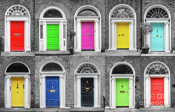 Wall Art - Photograph - Doors Of Dublin by Delphimages Photo Creations