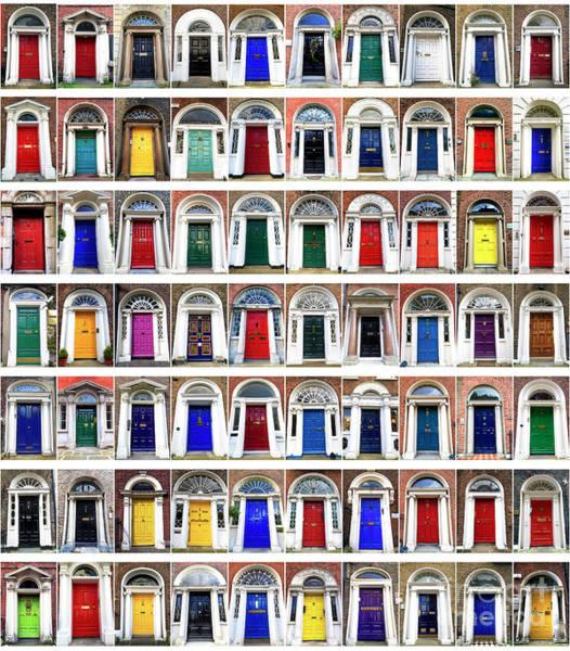 Photograph - Doors Of Dublin by John Rizzuto