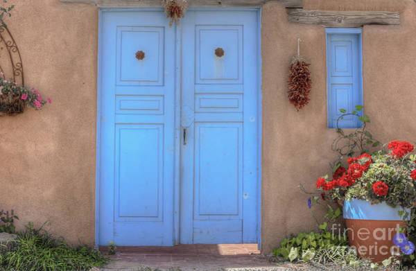 Photograph - Doors, Peppers And Flowers. by David Cutts