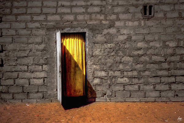Photograph - Doorway To A Yellow Curtain by Wayne King